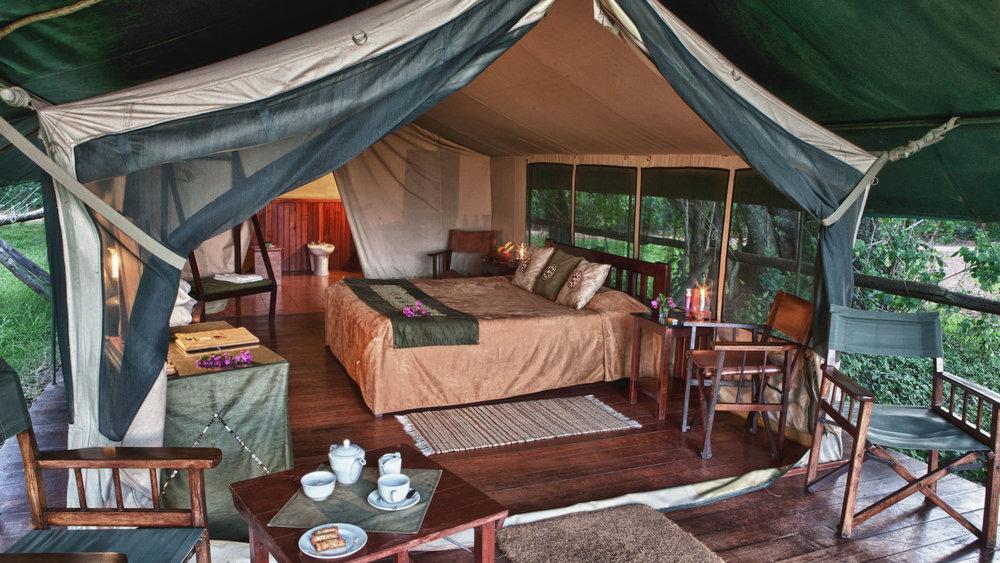 Safari Rwanda, Kenya et Seychelles - tente au Little Governor's Camp