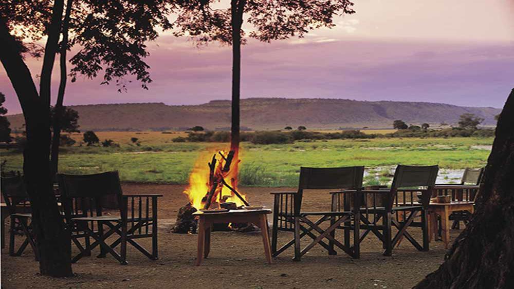 Safari Rwanda, Kenya et Seychelles - feu de camp au Little Governor's Camp