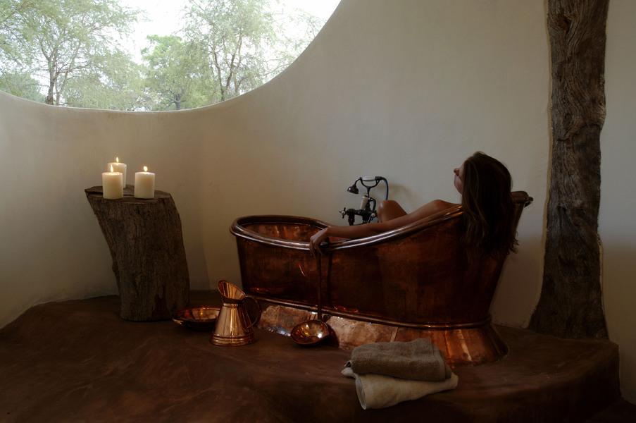Salle de bain de la Luangwa Safari House