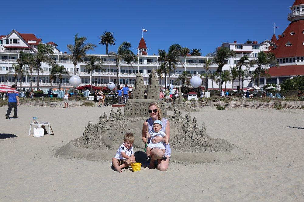 We found the Sandcastle mans creations at the Hotel Del Coronado