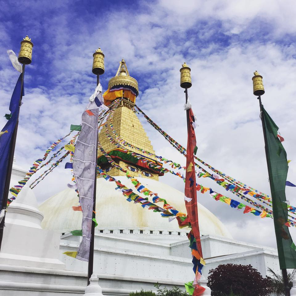 The auspicious Boudha Stupa on the Dalai Lama's Birthday July 2017