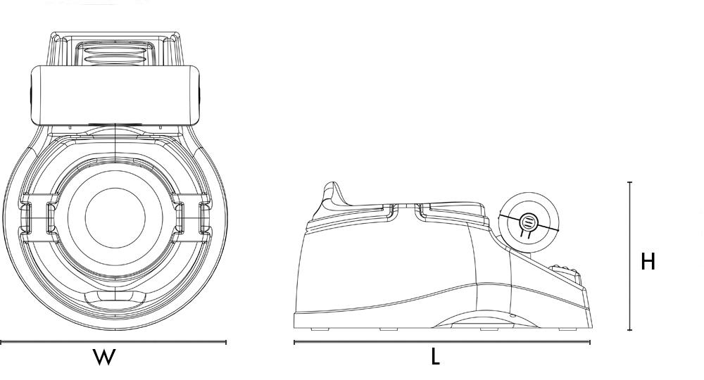 W=25 cm/10 inch L=34.5 cm/13.2 inch   H=17 cm/6.6 inch