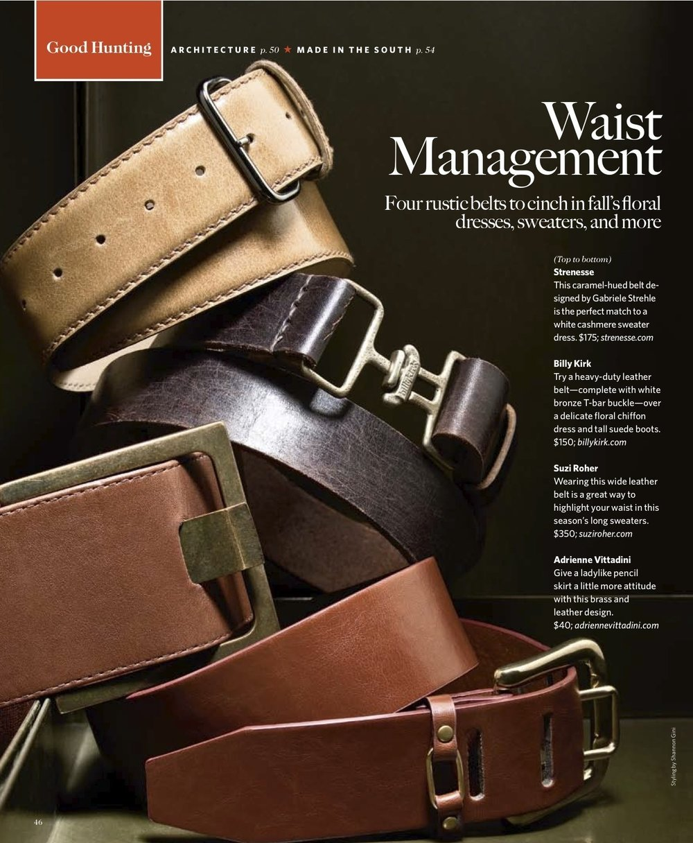 Garden & Gun Magazine: Belt Stack