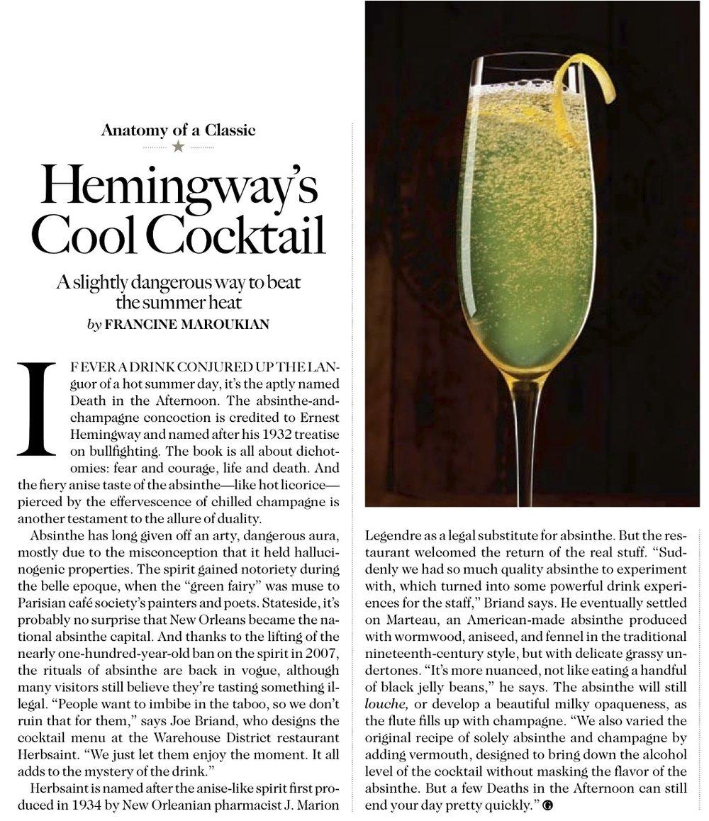 Garden & Gun Magazine: Cocktail