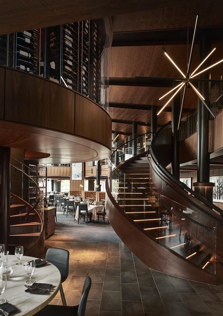 Del Frisco's Restaurant - Atlanta, GA: Spiral Staircase