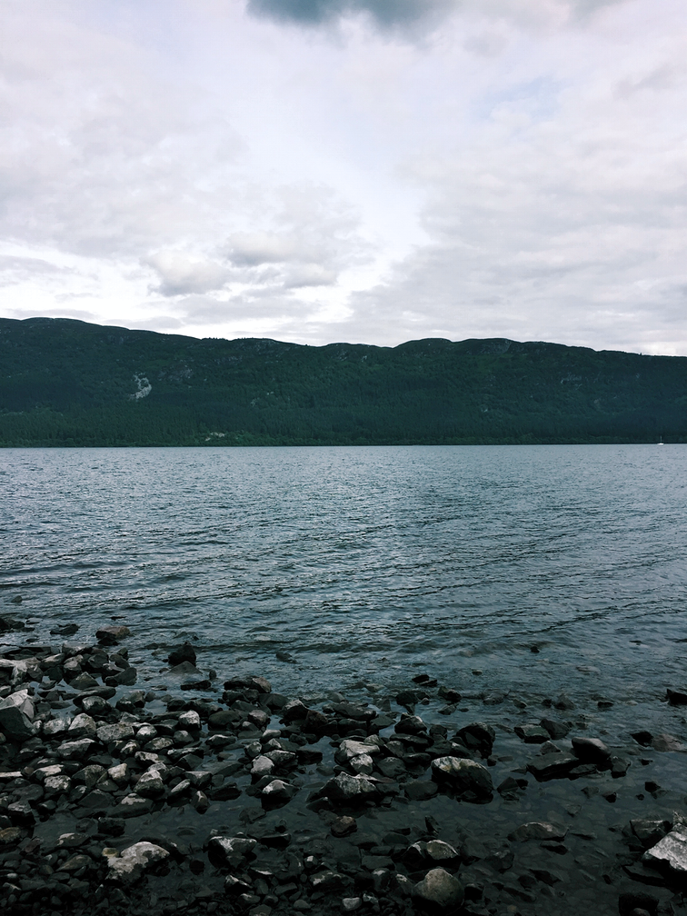 The shores of Loch Ness.