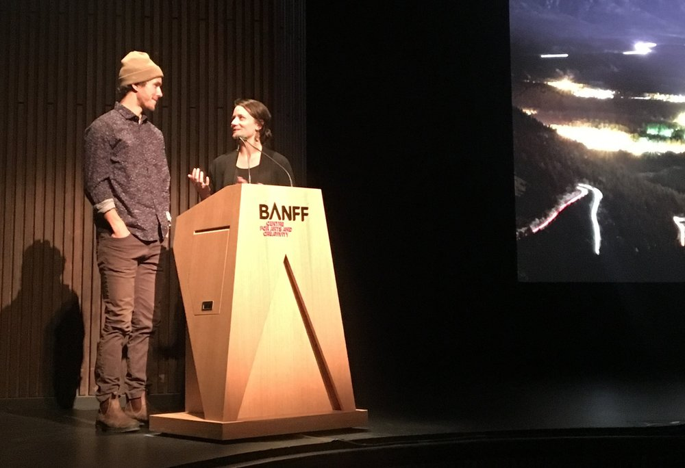 Screening - Banff Mtn. Film Fest - A project I filmed and edited last winter was selected into the 2017 Banff Mountain Film Festival. The producer Leah Evans and myself were there to introduce the film in the Ed Harvey Theatre to a 900 person audience. It was an absolutely overwhelming experience and by far the largest event I've ever screened a film at. I would not have been there without Leah, and the amazing group of people she assembled to bring this idea to life, what a dream come true to be selected into such a world class event along side many incredible films.