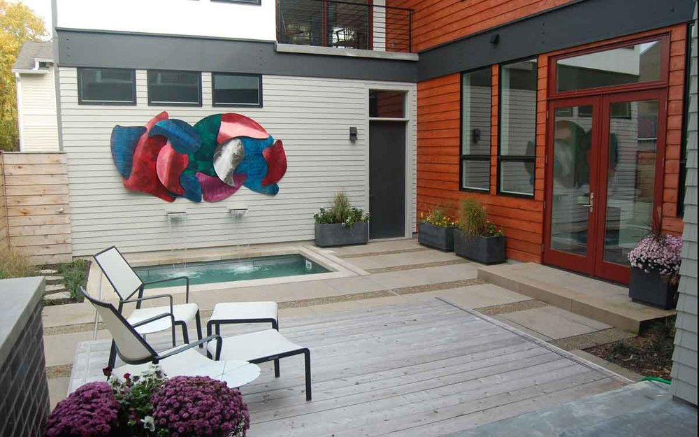 Contemporary Courtyard, Indianapolis