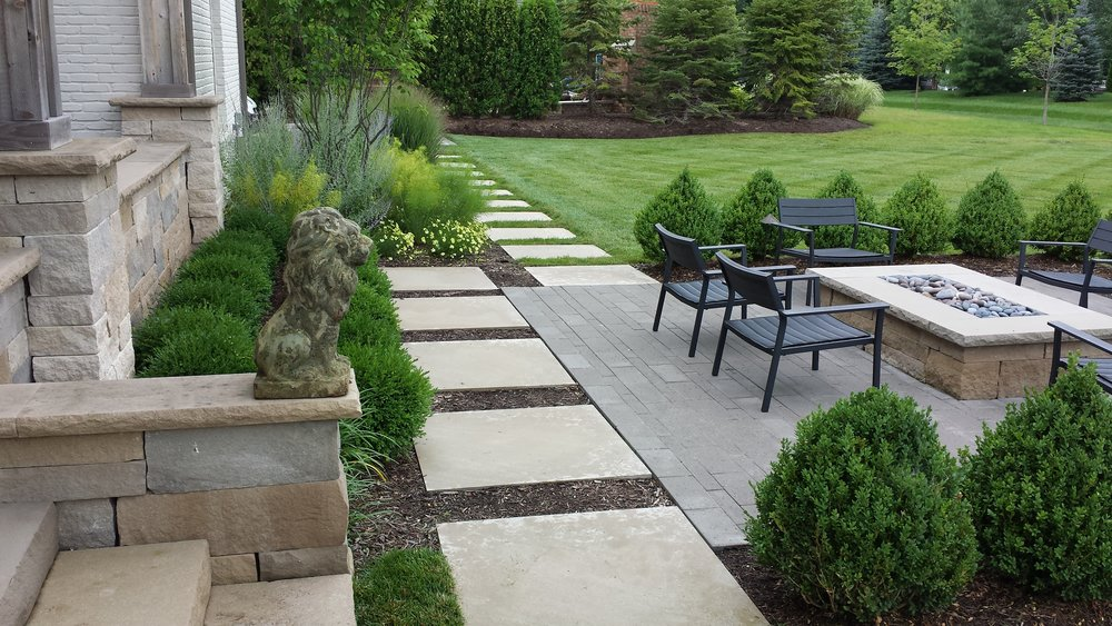 modern landscape design zionsville indiana