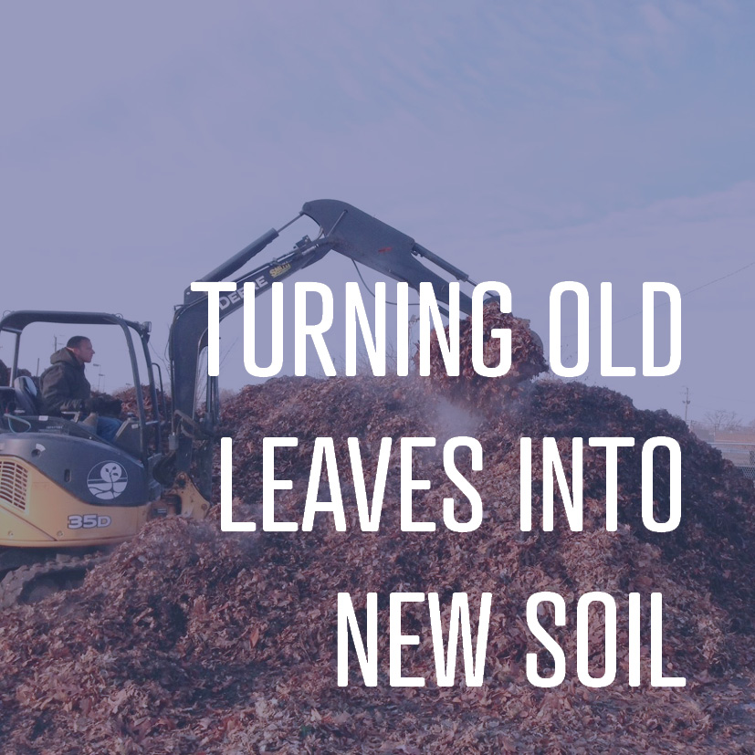 Composting leaves is an easy, common-sense way for a landscaping company to care for the environment.