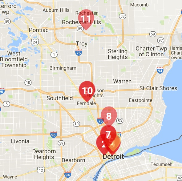 "Jan, 2017- Eater Detroit ""The Hottest Restaurant in Detroit Right Now, January 2017""  Restaurants are listed based on distance away from Metro Detroit. You can see us on the map at #11!!"