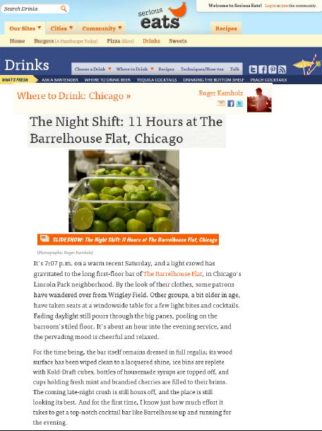"""The Night Shift: 11 Hours at the Barrelhouse Flat, Chicago"""