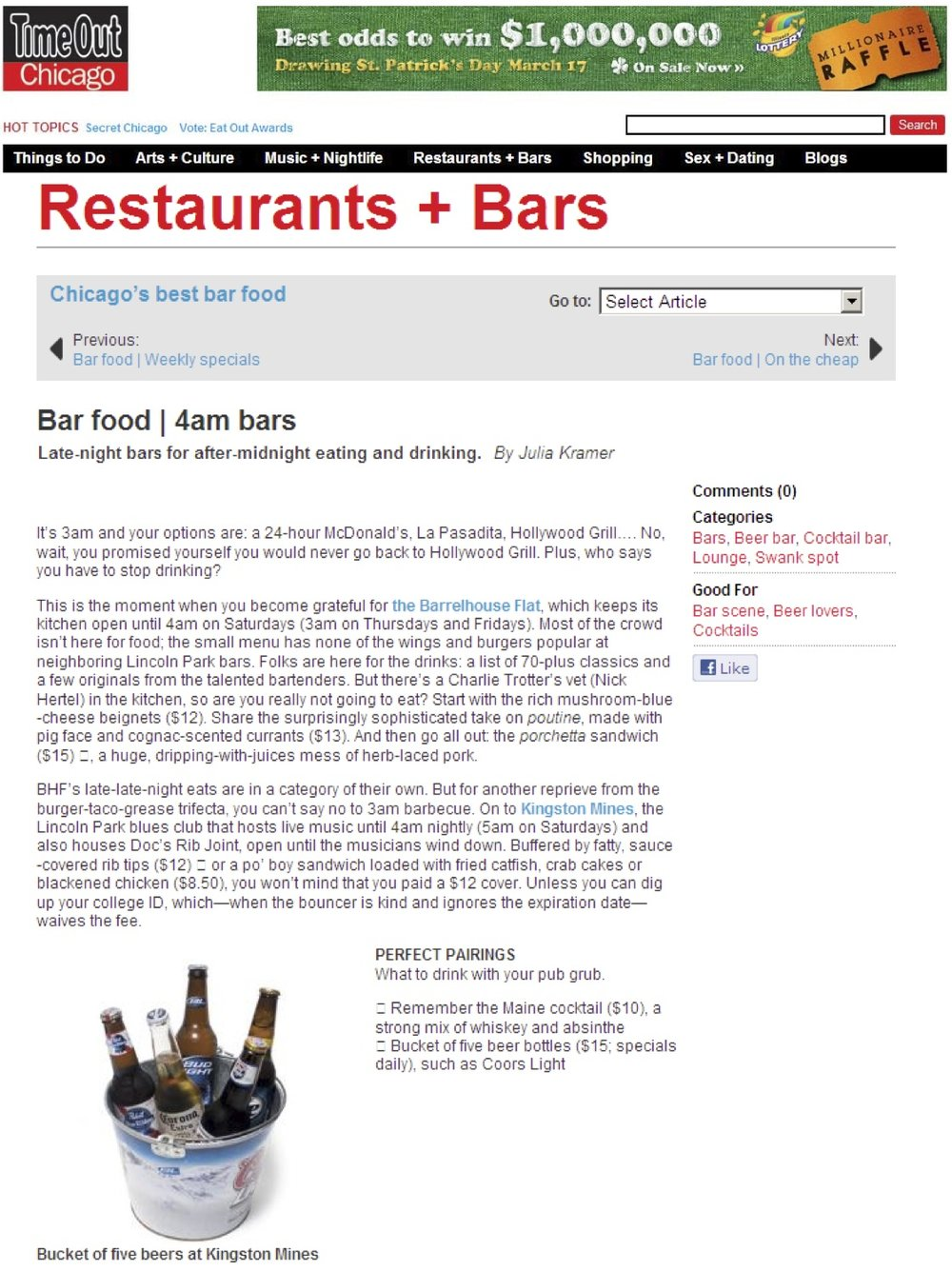 """Bar Food: 4am Bars"""