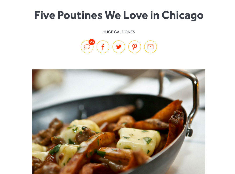 """Five Poutines We Love In Chicago"""