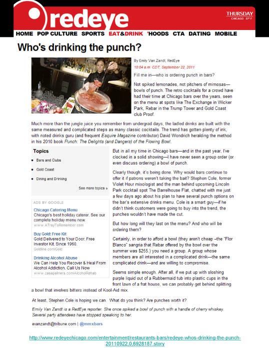 """Who's drinking the punch?"""