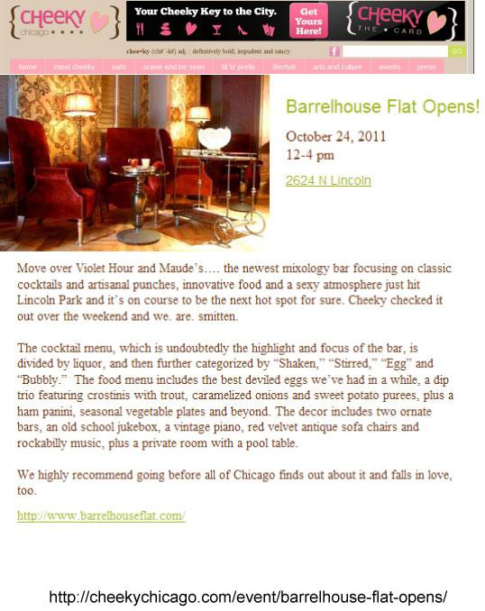 """""""Barrelhouse Flat Opens!"""""""