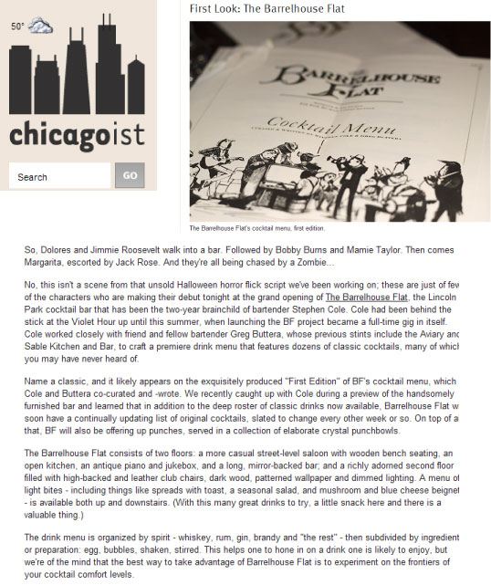 Featured in Chicagoist