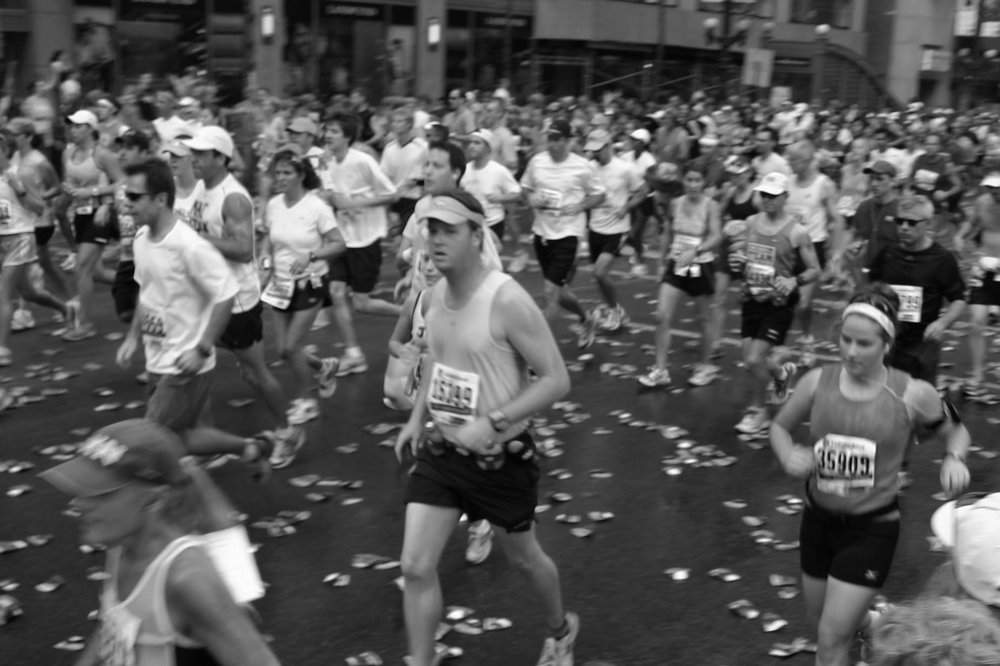 The infamous  2007 Chicago Marathon  and Coach Amy's first.