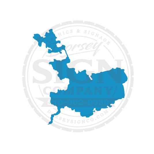 Middle Saranac Lake NY Decal - Sizes: 6