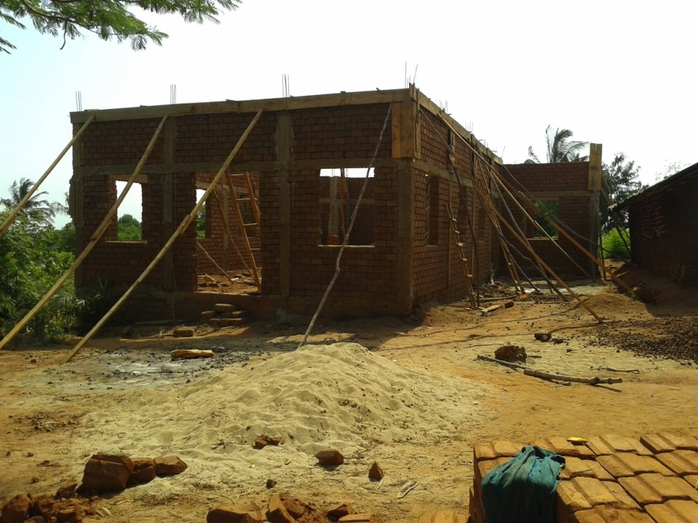 Chapel under construction in Tanzania