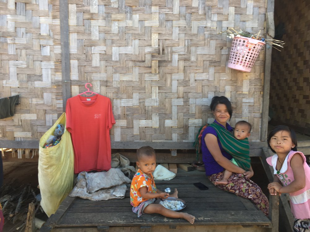 Burmese family at Internally Displaced Persons Camps (IDPC's)