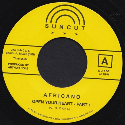 AFRICANO -  A - OPEN YOUR HEART pt. 1   B - SATISFACTORIZE YOUR MIND