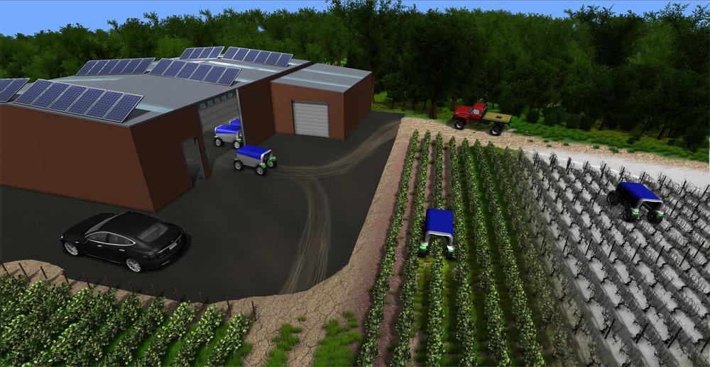 Illustration des robots dans notre simulateur