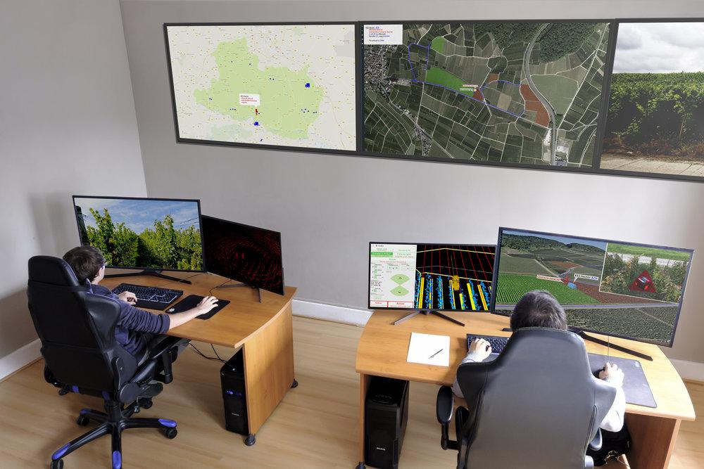 Salle de contrôle machines