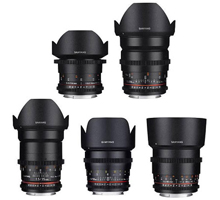 Samyang - EF mount lenses ( 8 - 14 - 35 - 50 - 85 ) mm