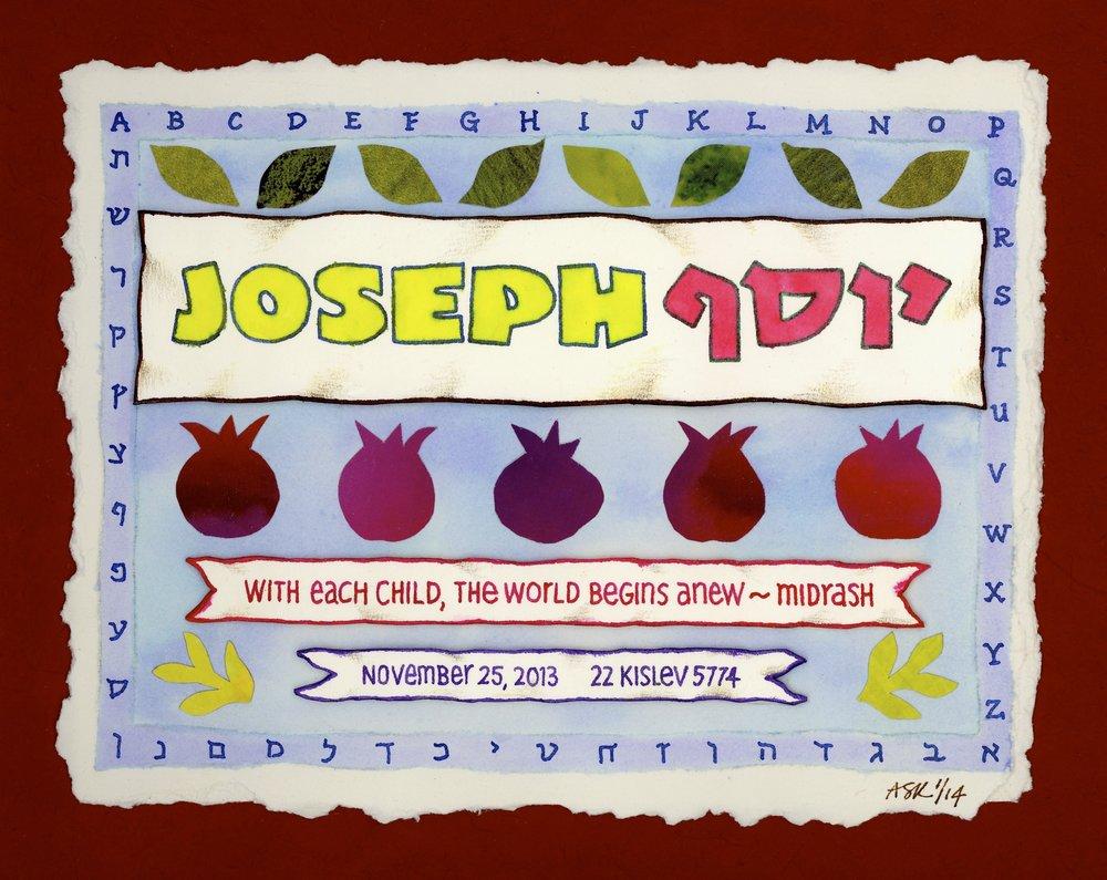 Art for Baby Joseph's Room