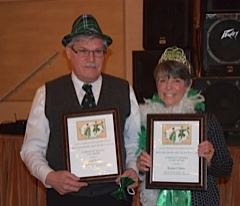 Pictured:  Joe Keller and Karen Claton   2015 Lad & Lassie Award Winners