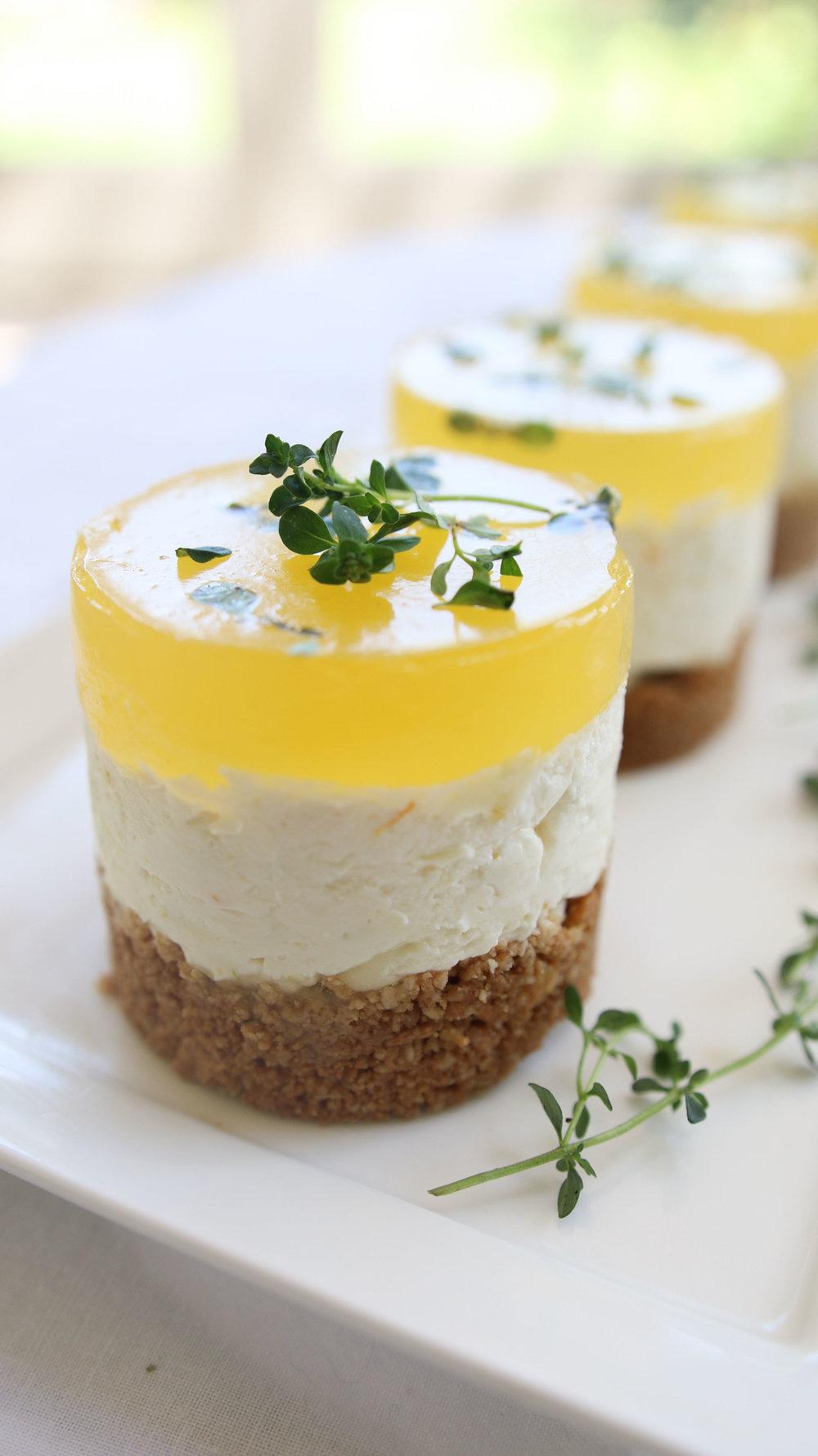 Gin Tonic Lemon Thyme Cheesecakes Emily Sarah Geere