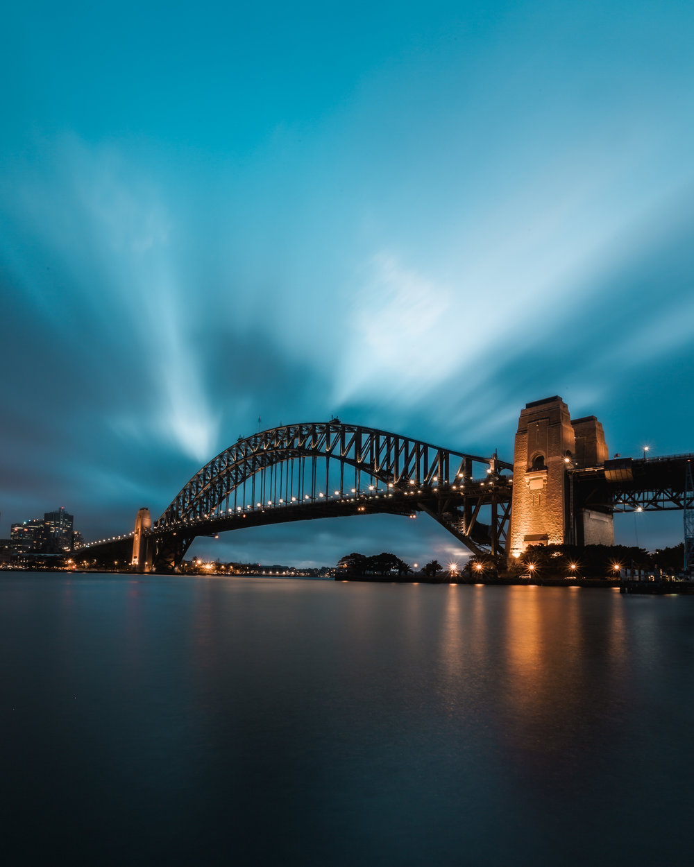 The Bridge from Milson's Point.  Shot with Beau and Matt!