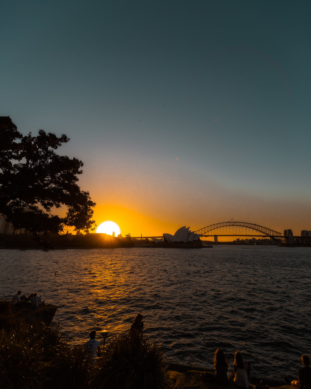 Sunset from the Botanical Gardens.  Meeting and shooting with a Remi, a French photographer now based in Sydney!