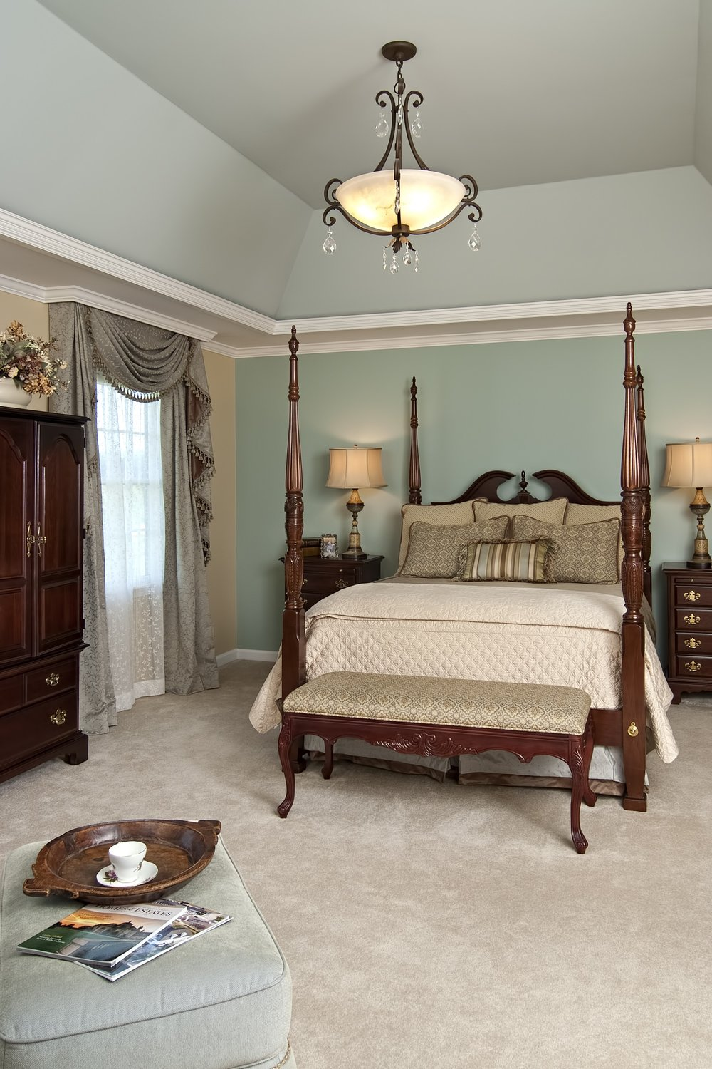 Bailiwick Interior Design - Molding Details - Tray Ceiling Master Bedroom - Accent Walls.jpg