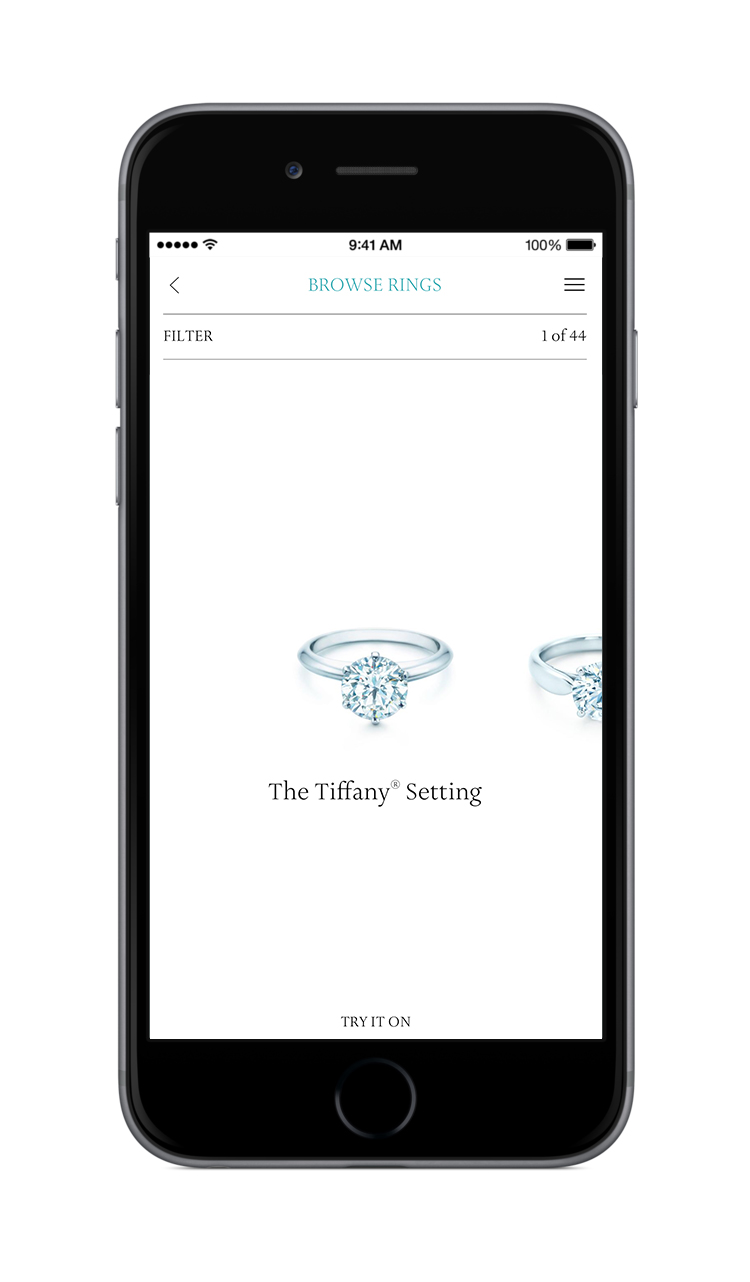 Feature - The user has the ability to trya ring on by using their camera.