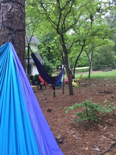 Writing this blog post from this Eno perch of mine.