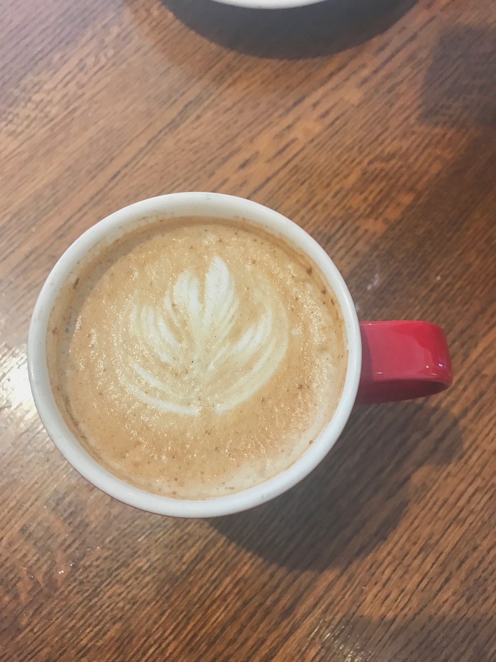 Try the Bee Stinger if you make it! Such a cozy latte in the best red mug.