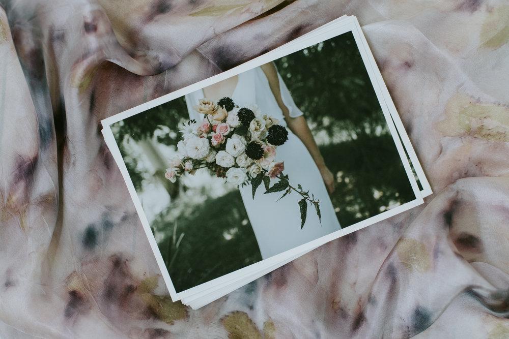 Wedding bouquet scarf