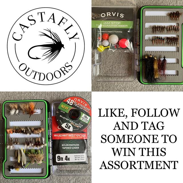 Rather than give Google ad words my money I decided to do a follower drive giveaway. I put together a decent beginner kit of 75 brand new commercially tied flies, some bobbers, a leader and some tippet.  To win what you need to do is like this post, tag a friend in the comments, follow @castaflyoutdoors & @willcastafly on Instagram and CastaFly Outdoors on facebook. When @castaflyoutdoors has 1000 followers I will generate a number with a random number generator and select a winner from the comments. (these rules are subject to change at my discretion). . . . . . . . #flyfishing #flytying #trout #troutfishing #brooktrout #browntrout #rainbowtrout  #fishing #catchandrelease #keepemwet #orvis #orvisflyfishing #river #instagram #fishinglife #happy #fun #adventure #summer #spring #troutbum #thetugisthedrug #lifestyle #newhampshire #maine #onthefly #newengland #castaflyoutdoors #angler