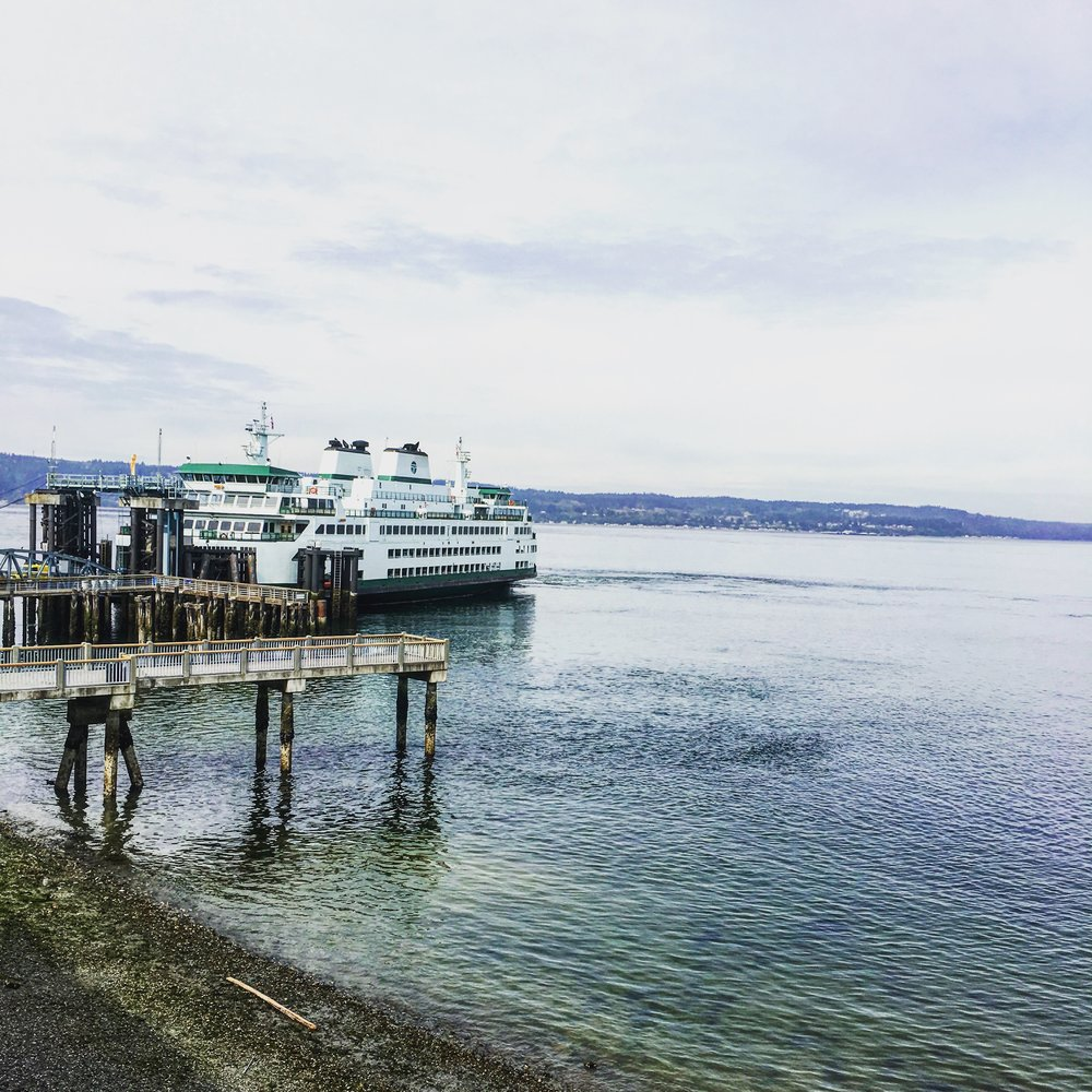 Ferry to Whidbey Island, WA, outside of Seattle.... totally unrelated to this post.
