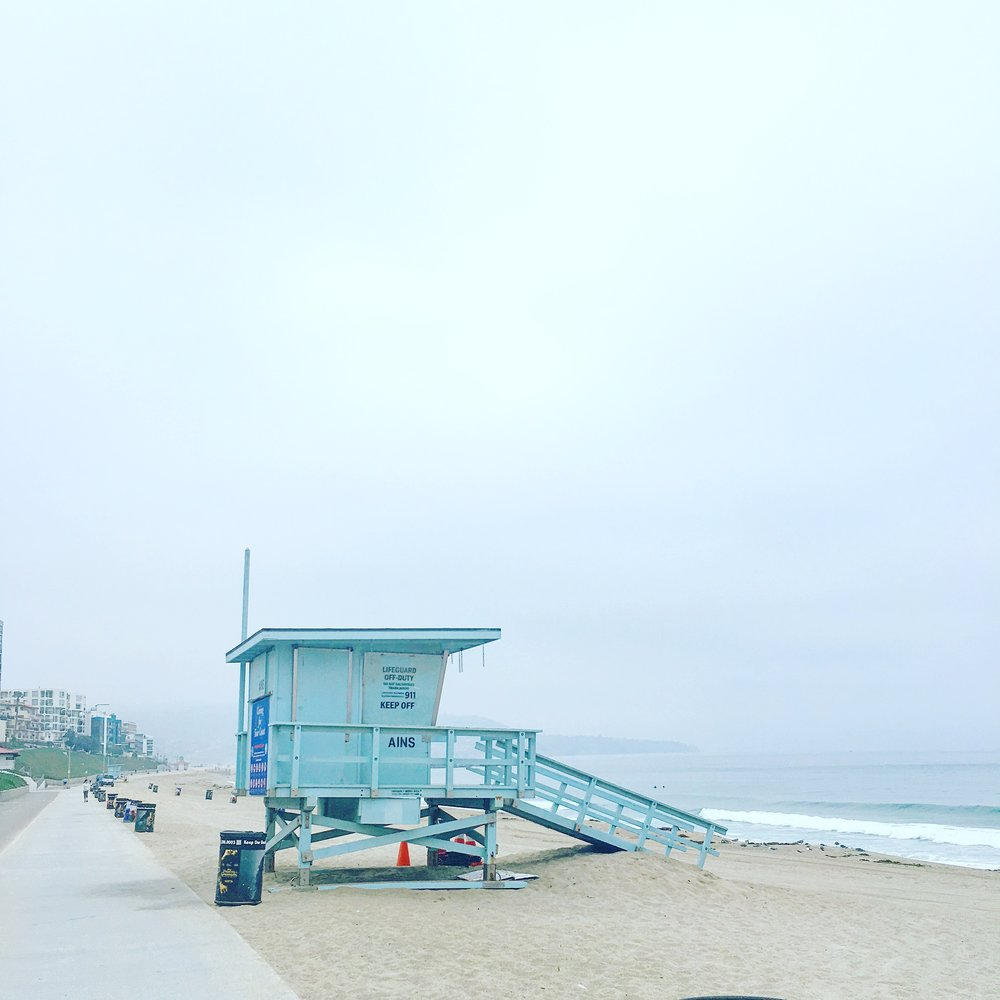The scene from my run on the Redondo Beach boardwalk this morning.