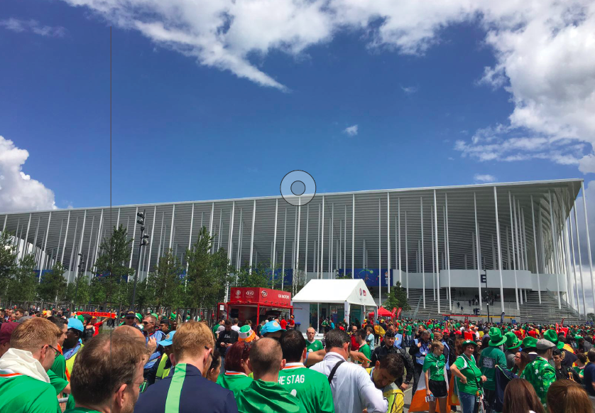 Both red and green fans came together at the new Matmut Atlantique Stadium to witness Belgium win their match against Ireland, 3-0.