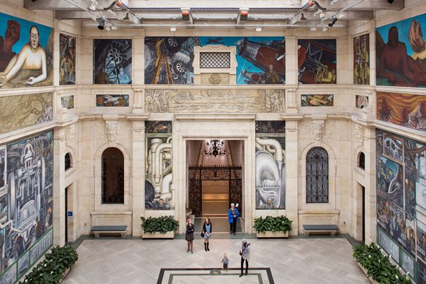 The Rivera Court in the Detroit Institute of Arts. Kevin Miyazaki for The New York Times