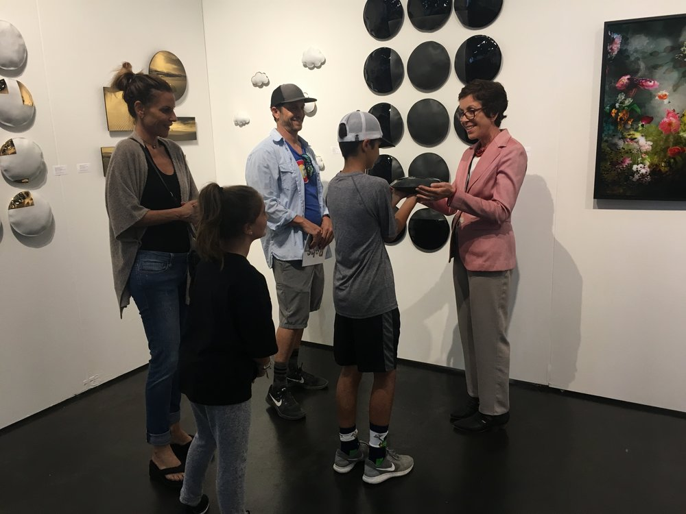 Michele Mariaud and visitors