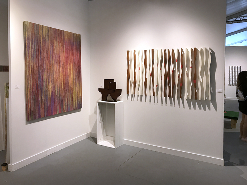 Joan Salo painting and Pascal Pierme sculpture