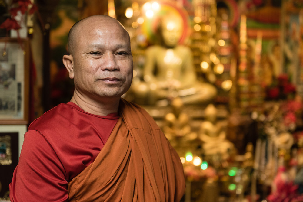Chamreum Khorl is a refugee from Cambodia who arrived in the United States in 2003. In 2004 the monk helped found a Buddhist temple in Utica, New York and had since been a leader of the Buddhist community in the city.  Joseph Ryder