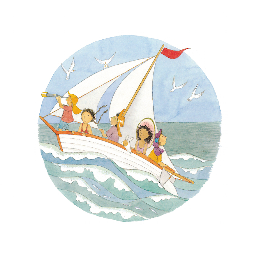 THE WIND FILLS OUR SAILS Print - $175 - Buy Here Framed - $475 - Buy Here