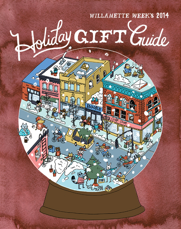 For Willamette Week's 2014 Holiday Gift Guide. Two separate covers online and in print with their paper. AD Kristina Morris