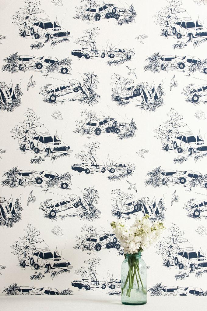 Car Toile Wallpaper